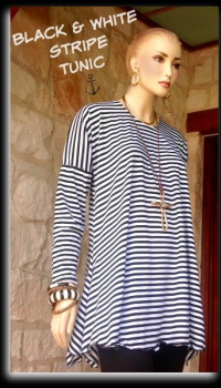 BLACK & WHITE STRIPE TUNIC oss