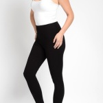 MIDNIGHT BLACK DENIM SKINNY LEGGINGS