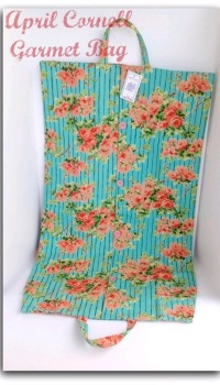 Roses on Stripe Garment Bag by April Cornell - 1