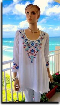 Sangria ladies embroidered top