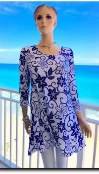MAJESTIC PURPLE LEIS TUNIC by Pleats